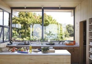 diseño de cocina en madera natural