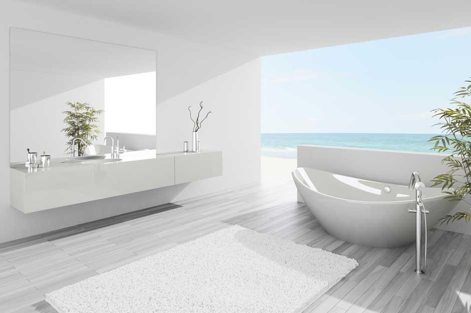 Decoración de baño estilo nórdico
