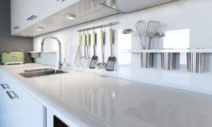 Diseño de encimera para cocinas blancas